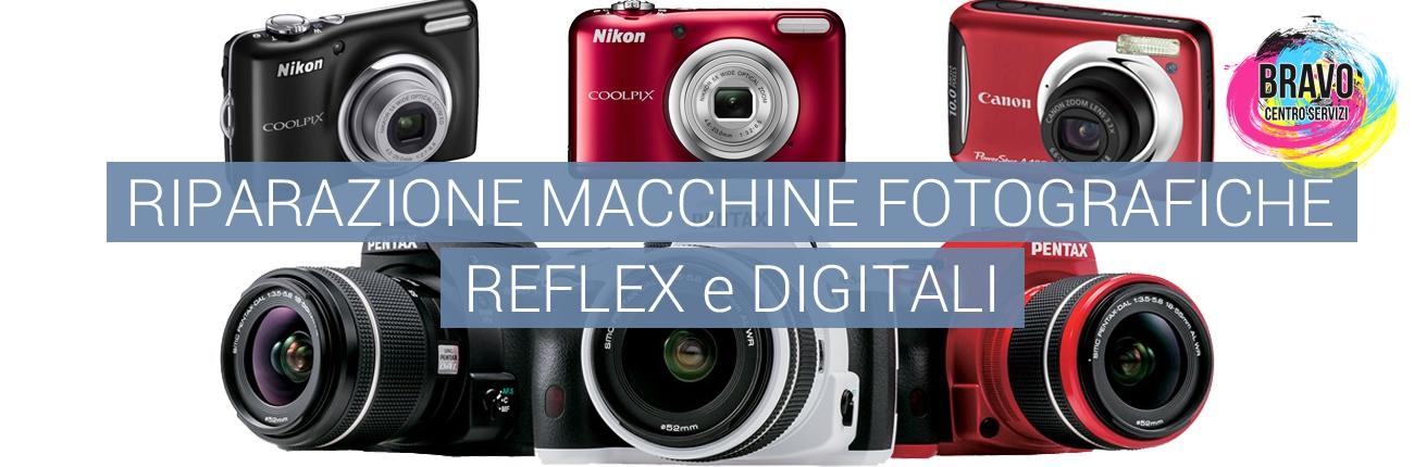 Riparazione macchine fotografiche reflex e digitali